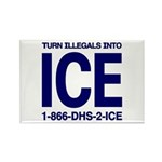 TURN ILLEGALS INTO ICE - Rectangle Magnet
