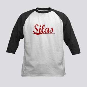 Silas, Vintage Red Kids Baseball Jersey