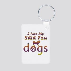 Shih Tzu designs Aluminum Photo Keychain