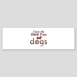 Shih Tzu designs Sticker (Bumper)