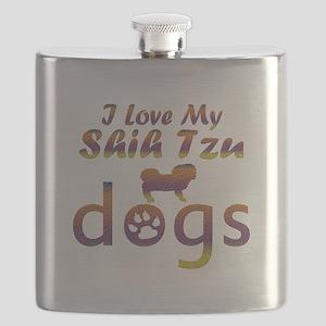 Shih Tzu designs Flask