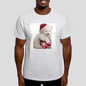 Polar Bear Cub Christmas Light T-Shirt