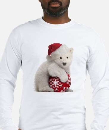 Polar Bear Cub Christmas Long Sleeve T-Shirt