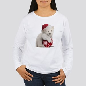 Polar Bear Cub Christmas Women's Long Sleeve T-Shi
