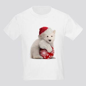 Polar Bear Cub Kids Christmas Kids Light T-Shirt