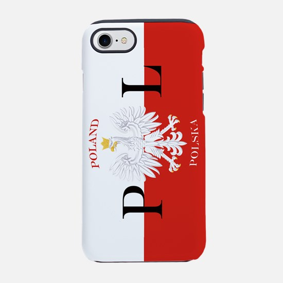 Polish Flag Poland Polska iPhone 7 Tough Case