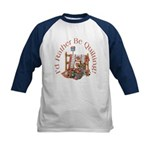 Rather Be Quilting Kids Baseball Jersey