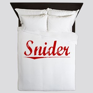 Snider, Vintage Red Queen Duvet