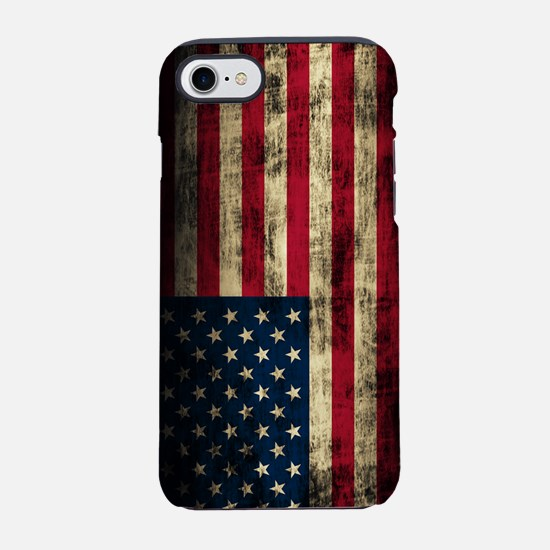 Vintage American Flag Grunge iPhone 7 Tough Case