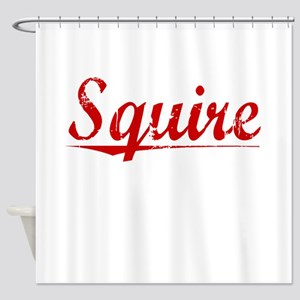 Squire, Vintage Red Shower Curtain