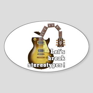 Music9 Sticker (Oval)