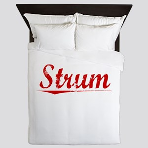 Strum, Vintage Red Queen Duvet