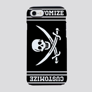 Personalized Pirate Flag iPhone 7 Tough Case