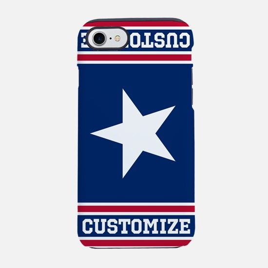 Customized Patriotic Red White and Blue Flag iPhon