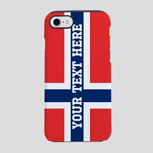 Personalize Flag of Norway iPhone 7 Tough Case