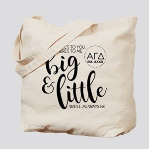 Alpha Gamma Delta Big Little Personalized Tote Bag