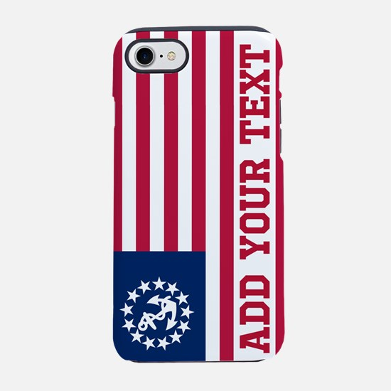 Personalized American Yacht Flag iPhone 7 Tough Ca