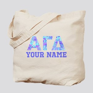 Alpha Gamma Delta Blue Purple Personalize Tote Bag