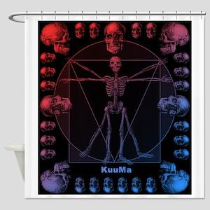 Leonardo da skull(RB) Shower Curtain