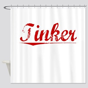 Tinker, Vintage Red Shower Curtain