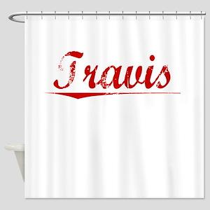 Travis, Vintage Red Shower Curtain
