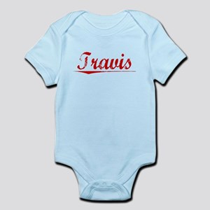 Travis, Vintage Red Infant Bodysuit
