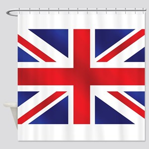 Union Jack UK Flag Shower Curtain