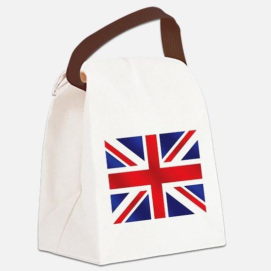 Union Jack UK Flag Canvas Lunch Bag
