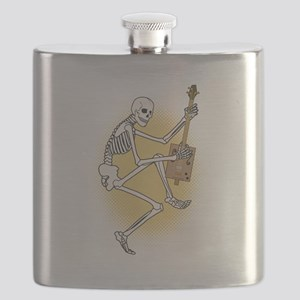 CBG Playing Skeleton Flask