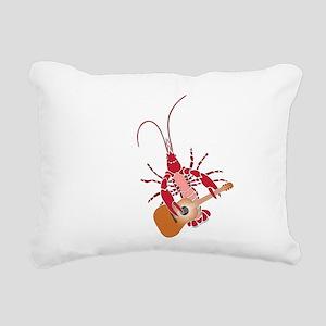 Crayfish Guitarist Rectangular Canvas Pillow