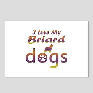 Briard designs Postcards (Package of 8)