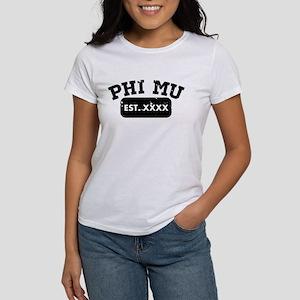 Phi Mu Athletic Women's Classic White T-Shirt