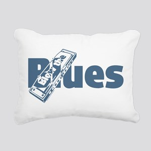 Harmonica Blues Rectangular Canvas Pillow
