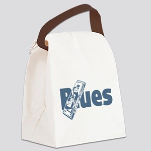 Harmonica Blues Canvas Lunch Bag