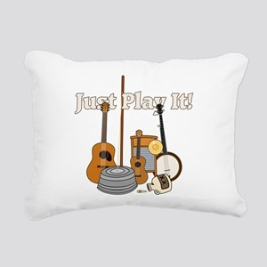 Just Play It! Rectangular Canvas Pillow