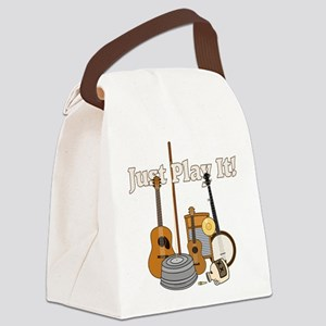 Just Play It! Canvas Lunch Bag