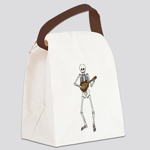 Skeleton Mandolin Canvas Lunch Bag