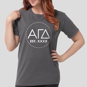 Alpha Gamma Delta Circ Womens Comfort Colors Shirt