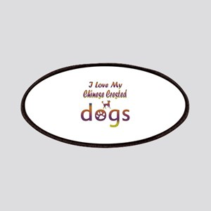 Chinese Crested designs Patches