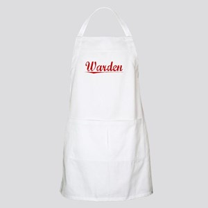 Warden, Vintage Red Apron