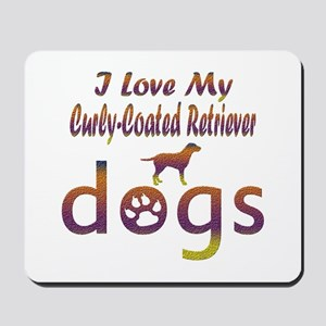 Curly-Coated Retriever designs Mousepad