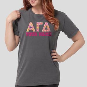 Alpha Gamma Delta Pink Womens Comfort Colors Shirt
