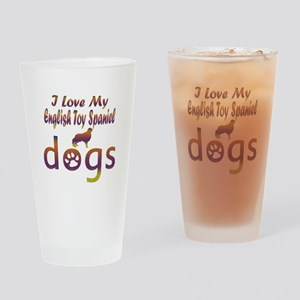 English Toy Spaniel designs Drinking Glass