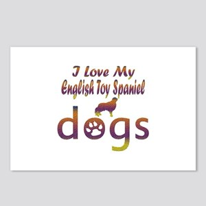 English Toy Spaniel designs Postcards (Package of
