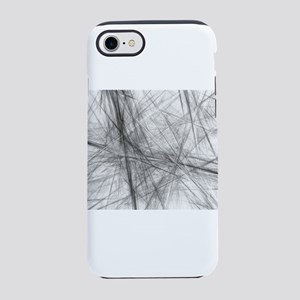 Abstract grunge black texture iPhone 7 Tough Case