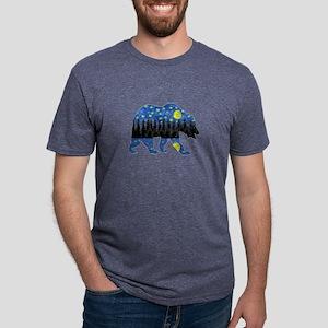 NIGHT LIGHTS Mens Tri-blend T-Shirt