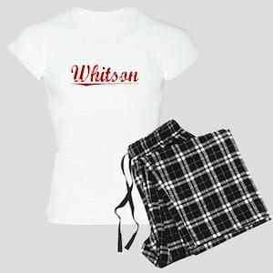 Whitson, Vintage Red Women's Light Pajamas