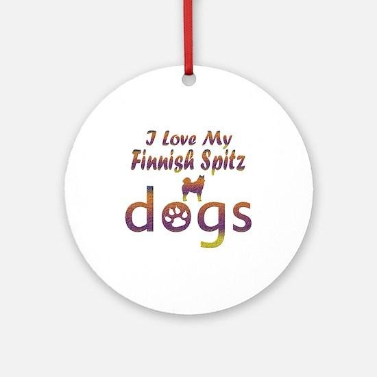 Finnish Spitz designs Ornament (Round)