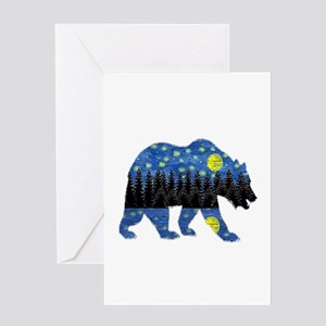 NIGHT LIGHTS Greeting Cards