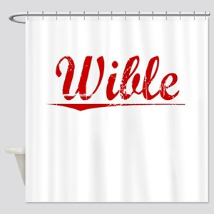 Wible, Vintage Red Shower Curtain